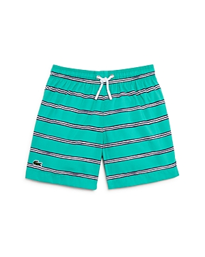 Lacoste Boys Striped Swim Trunks  Little Kid Big Kid