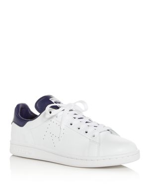 ADIDAS BY RAF SIMONS Raf Simons For Adidas Women'S Stan Smith Leather Lace Up Sneakers, White/ Night Sky/ White