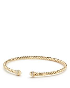 David Yurman - Cable Spira Bracelet in 18K Gold with Diamonds
