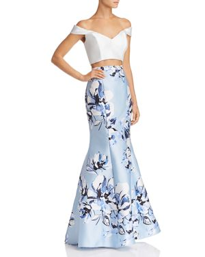 AVERY G TWO-PIECE OFF-THE-SHOULDER DRESS