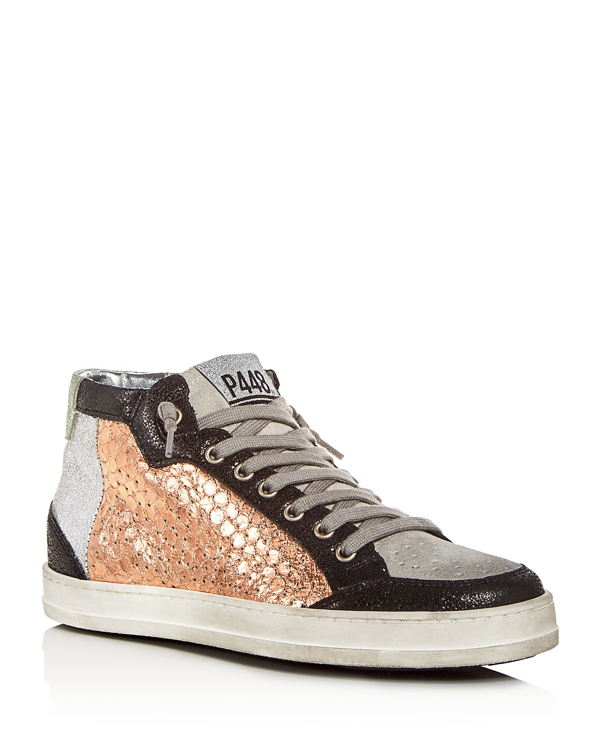 P448 Women's Love Mixed Media Mid Top Sneakers LCgIxkJ