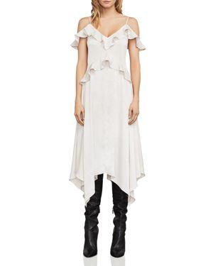 Bcbgmaxazria Lissa Cold-Shoulder Slip Dress