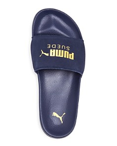 PUMA - Men's Leadcat Suede Slide Sandals