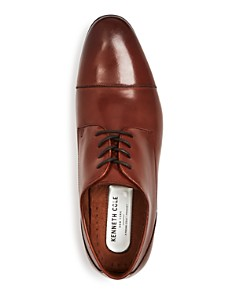Kenneth Cole - Men's Mix Leather Cap Toe Oxfords