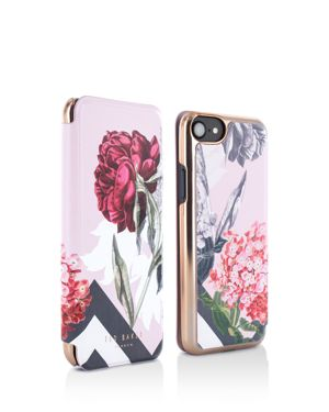 Carolyn Palace Gardens Mirror Folio Iphone 6/7/8 Plus Case, Pastel Pink Multi