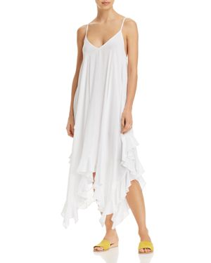 BLEU ROD BEATTIE HANDKERCHIEF-HEM DRESS SWIM COVER-UP