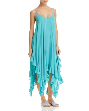 BLEU ROD BEATTIE BLEU BY ROD BEATTIE HANDKERCHIEF HEM COVER-UP DRESS
