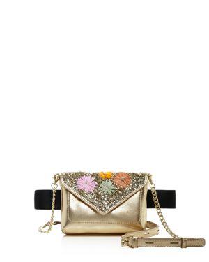 Vivi Calfskin Leather Convertible Belt Bag - Pink in Pastel Floral