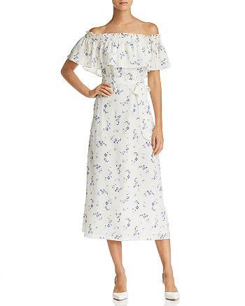 7b2cba1ed5 Rebecca Taylor - Francine Off-the-Shoulder Floral Silk Dress - 100%  Exclusive