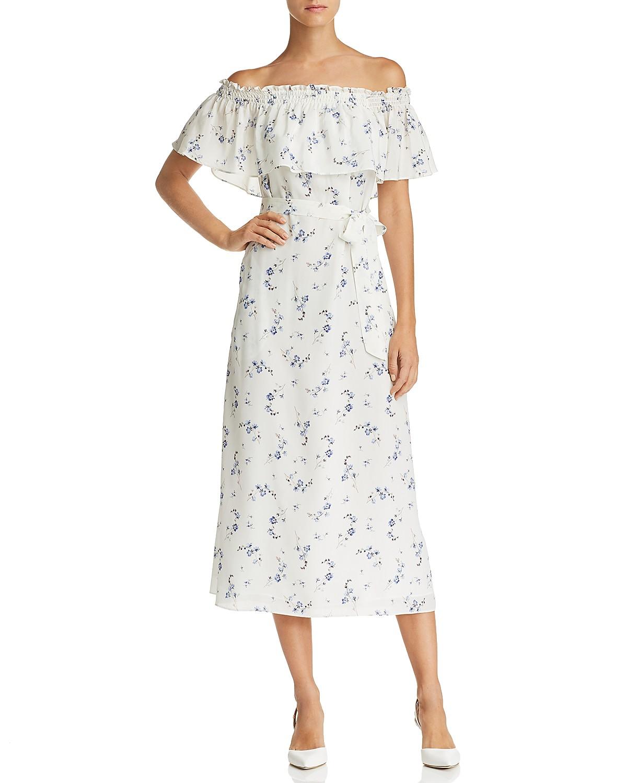 Rebecca Taylor Francine Off-the-Shoulder Floral Silk Dress - 100 ...