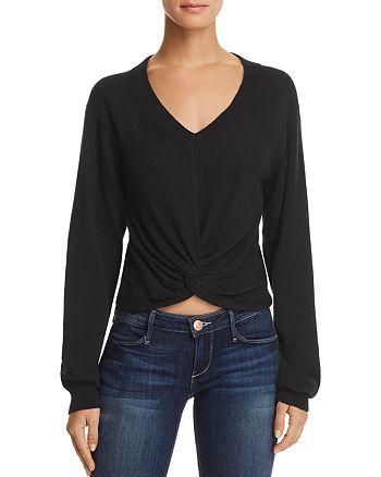 AQUA - Twist-Front Sweater - 100% Exclusive