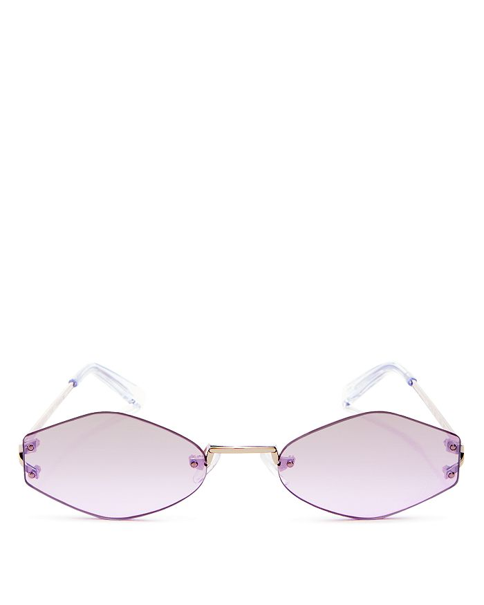 Kendall + Kylie - Women's Kye Mirrored Round Sunglasses, 51mm