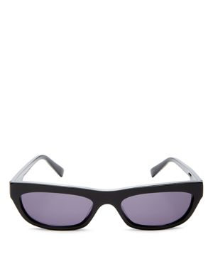 KENDALL AND KYLIE Courtney 55Mm Cat Eye Sunglasses - Black/ Solid Smoke