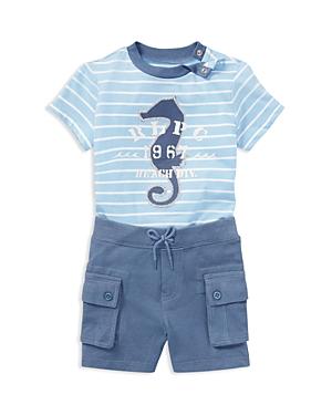 Ralph Lauren Boys Striped Seahorse Tee  Cargo Shorts Set  Baby