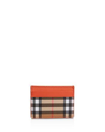 Burberry - Sandon Leather & Check Card Case