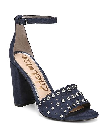 Sam Edelman - Women's Yaria Studded Suede Block Heel Sandals