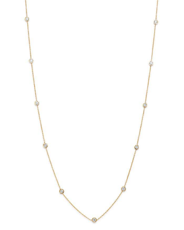 Bloomingdale's - Diamond Station Necklace in 14K Yellow Gold, 1.0 ct. t.w.- 100% Exclusive