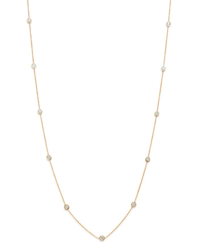 Bloomingdale's Diamond Station Necklace in 14K Yellow Gold, 1.0 ct. t.w. - 100% Exclusive  | Bloomingdale's