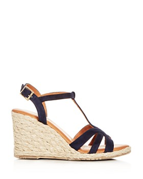 Andre Assous - Women's Madina Suede T-Strap Espadrille Wedge Sandals