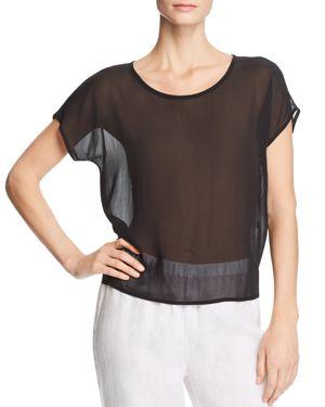 Eileen Fisher Sheer Silk Top