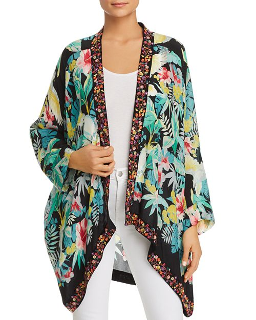 Johnny Was - Solomio Tropical-Print Kimono