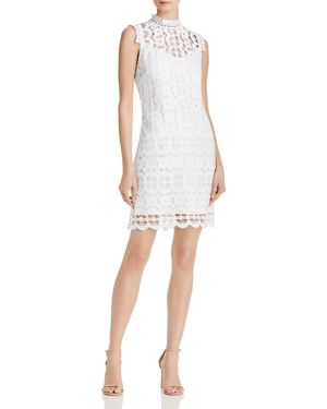 Laundry by Shelli Segal Mock Neck Lace Dress 2951292