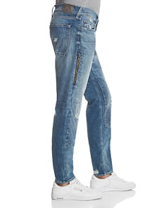 True Religion - Workwear Relaxed Fit Jeans in Faded Blue