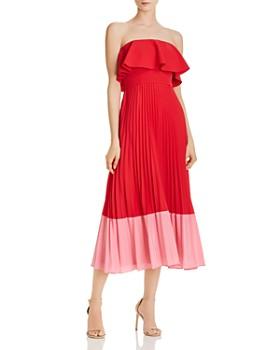 Aidan by Aidan Mattox - Strapless Color-Blocked Dress