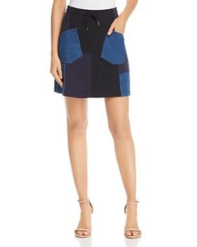 McQ Alexander McQueen - Denim Patchwork Skirt