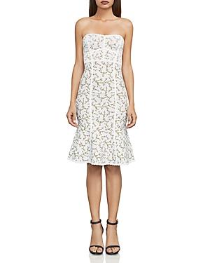 Bcbgmaxazria Lynne Floral Jacquard Strapless Dress