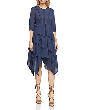 Bcbgmaxazria Jovita Handkerchief-Hem Shirt Dress