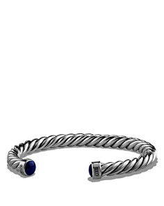 David Yurman - Cable Classic Cuff Bracelet with Lapis Lazuli