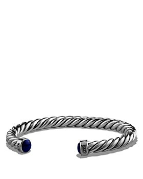 David Yurman - Cable Classic Cuff Bracelet with Lapis Lazuli, 6mm