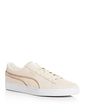 PUMA - Men's Classic Exposed Seams Suede Lace Up Sneakers