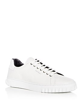Salvatore Ferragamo - Men's Cube Leather Low-Top Sneakers