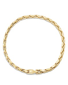 David Yurman - Small Fluted Chain Bracelet in 18K Gold