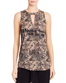 Haute Hippie - Tequila Made Me Do It Printed Tank