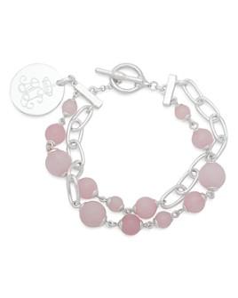Ralph Lauren - Link and Stone Double Strand Pendant Bracelet