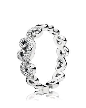 PANDORA - Sterling Silver Heart Swirls Ring