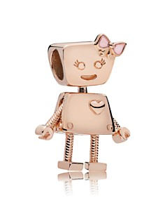 PANDORA Rose Gold-Tone Sterling Silver Bella Bot Charm - Bloomingdale's_0