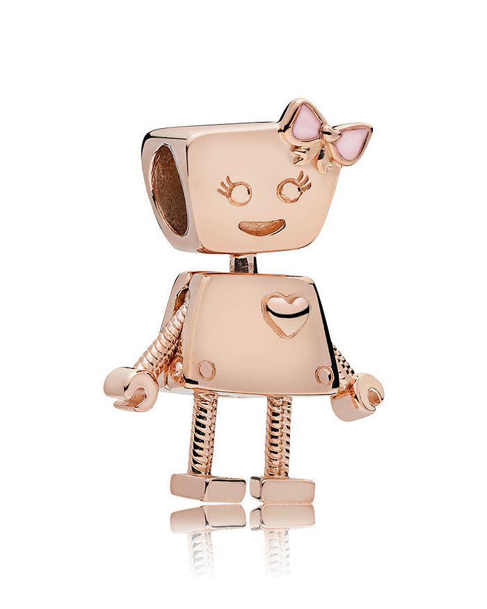 Pandora - Rose Gold-Tone Sterling Silver Bella Bot Charm