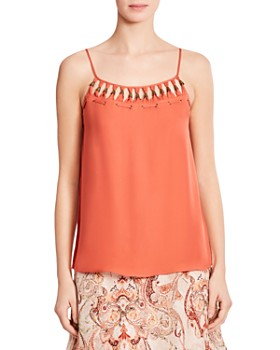 Haute Hippie - Brush With the Law Grommeted Silk Top