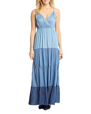Karen Kane Tiered Ombre Chambray Maxi Dress
