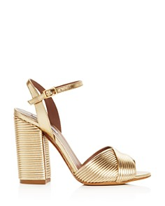 Tabitha Simmons - Women's Kali Pleated Block-Heel Sandals