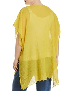 Eileen Fisher Plus - Frayed Organic Cotton Poncho