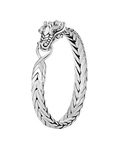 John Hardy Sterling Silver Legends Naga Bracelet with Blue Sapphire Eyes - Bloomingdale's_0