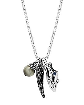 """JOHN HARDY - Sterling Silver Legends Naga Eagle Eye & Dragon Charm Pendant Necklace with Sapphire Eyes, 26"""""""