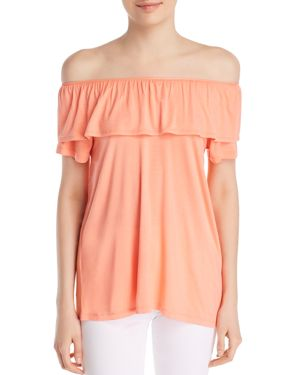 ALISON ANDREWS MARILYN OFF-THE-SHOULDER RUFFLE TOP