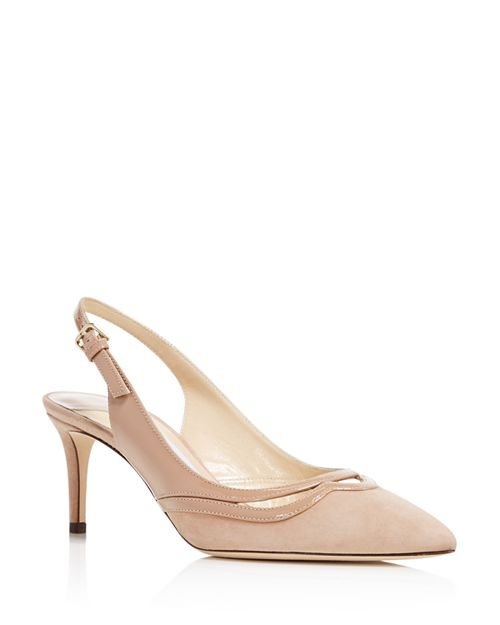 Jimmy Choo - Women's Harrison 65 Suede & Patent Leather Slingback Mid Heel Pumps