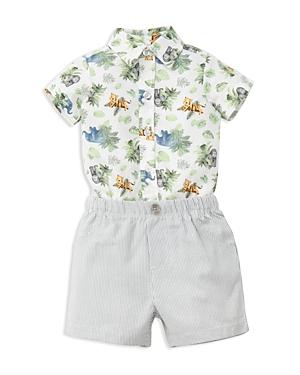 Little Me Boys' Jungle Bodysuit & Shorts Set - Baby